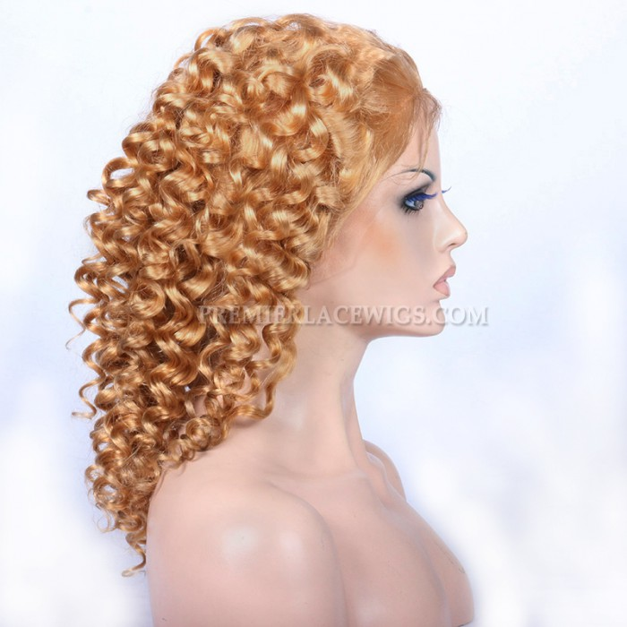 27# Blonde Color Chinese Virgin Hair Spiral Curl