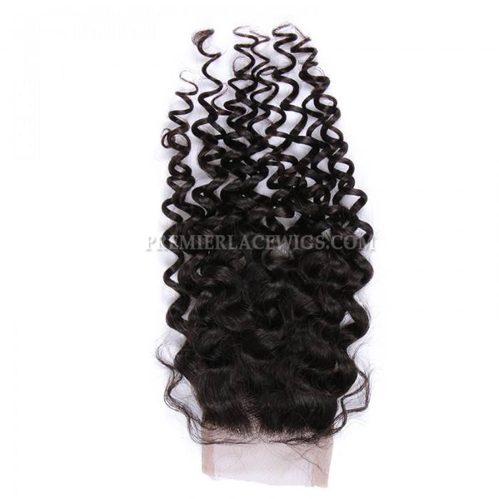 Brazilian virgin hair lace closure candy curl