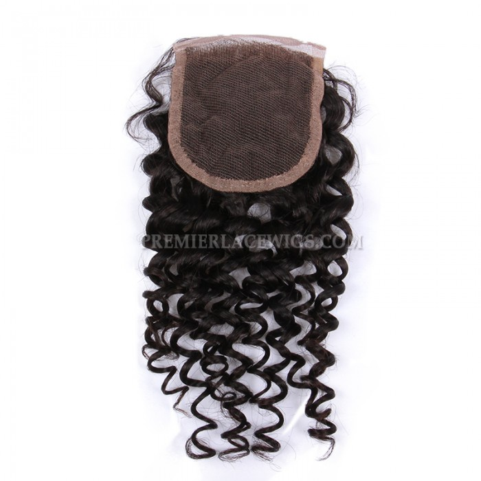 Brazilian virgin hair candy curl lace closure