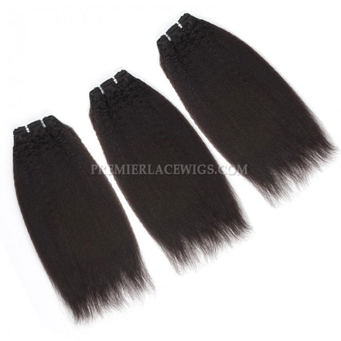 Brazilian Virgin Hair Weave Italian Yaki 4ozs thick Hair 3 Bundles Deal