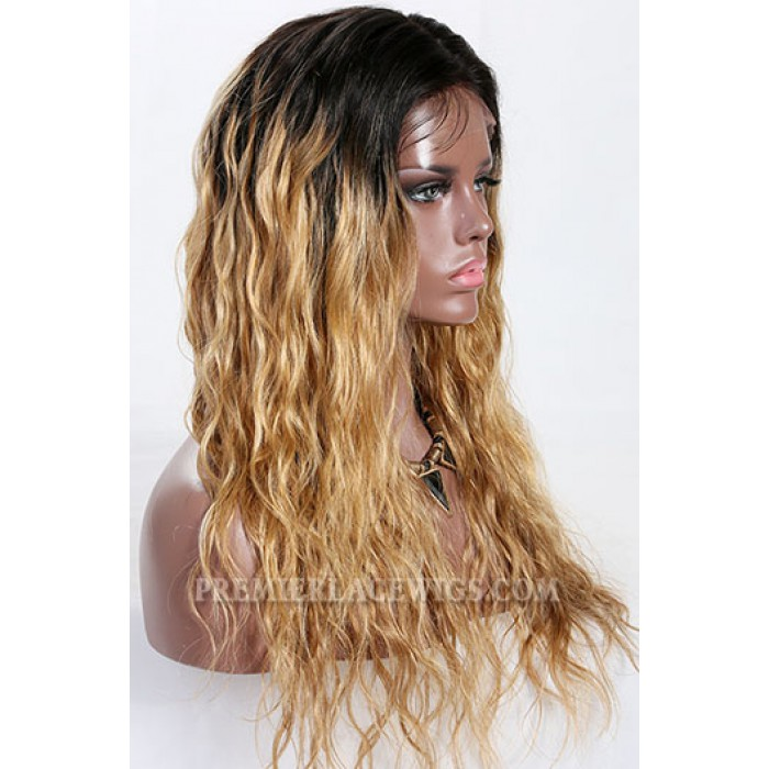Kayla- 13x3 Lace Frontal Wig Blonde Ombre Wavy Style Indian Remy Hair