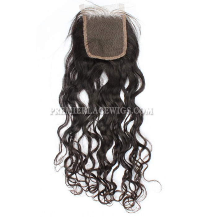 Peruvian Virgin Hair Lace Closure 4X4inches Loose Curl