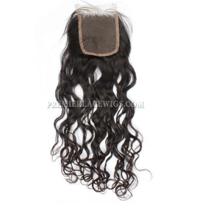 Indian Virgin Hair Lace Closure Loose Curls Loose Curl