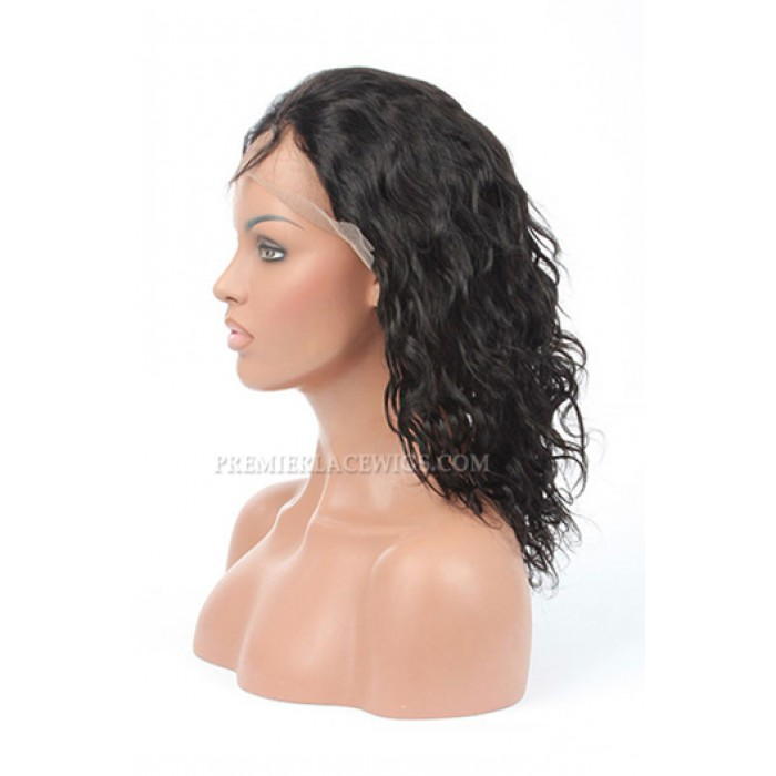 Indian Remy Hair Loose Curl Silk Top Glueless Lace Front Wigs