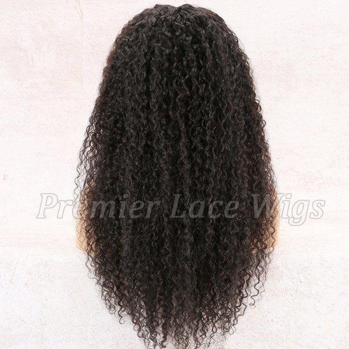 22 inches, natural black 150% thick density
