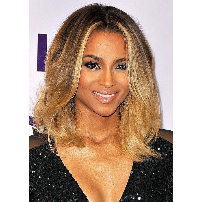 Ciara Ombre Honey Blonde Color Medium Bob Virgin Hair Lace ...