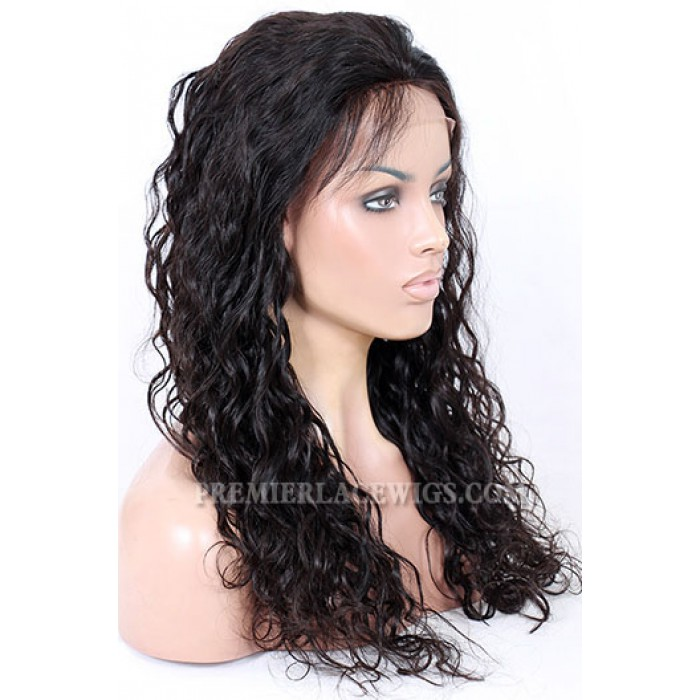20inches natural color 150% thick density loose curl