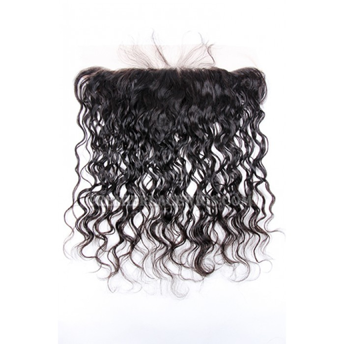 Indian Virgin Hair Loose Curl Lace Frontal with 2 Weaves Bundles Deal