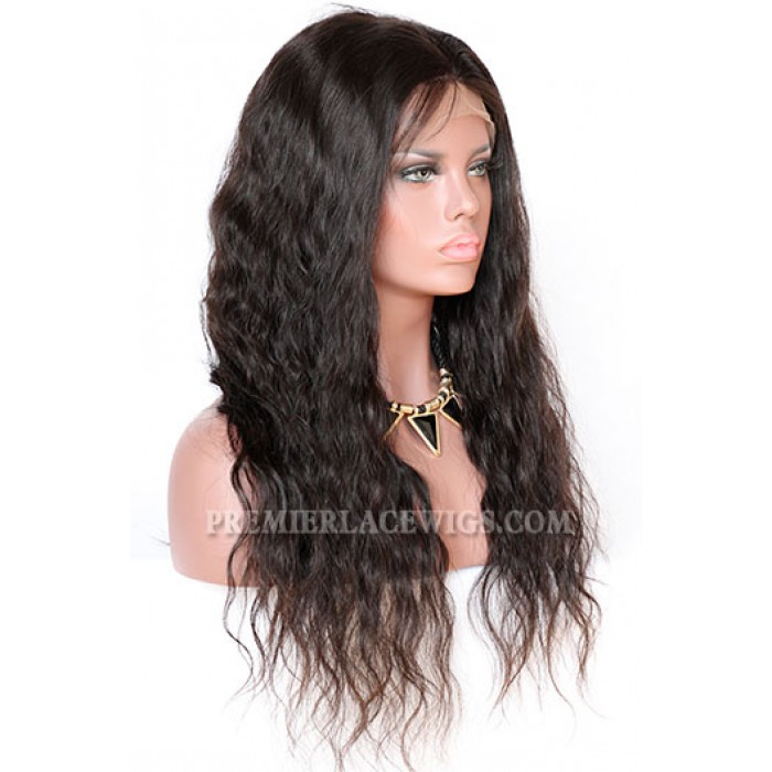 Brazilian Virgin Hair Full Lace Wigs Natural Wave
