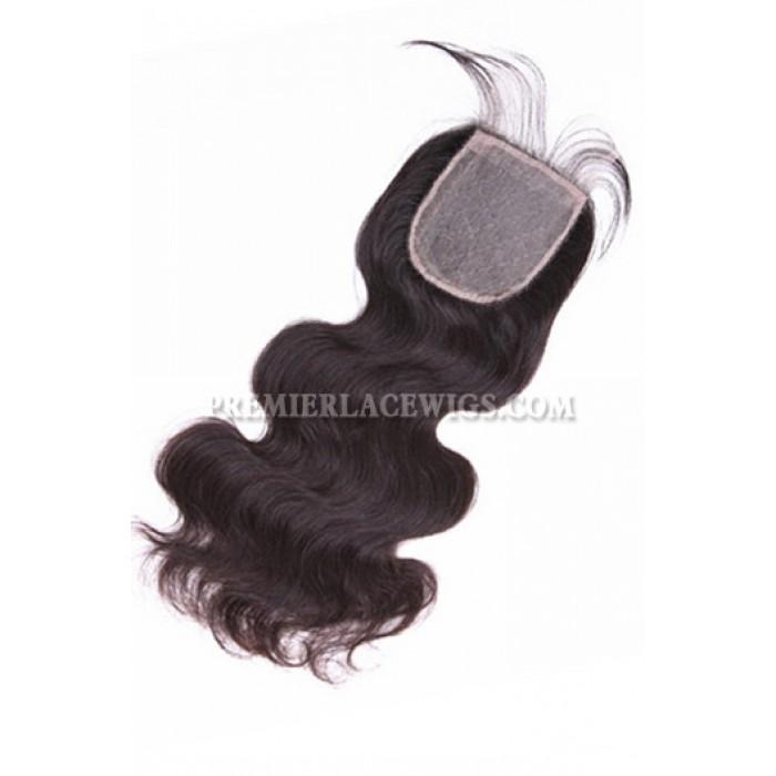 Brazilian virgin hair silk base closure body wave