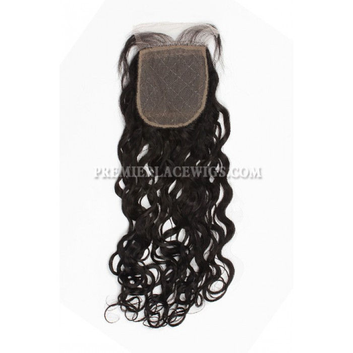 Brazilian Virgin Hair Silk Base Closure 4x4inches Loose Curl