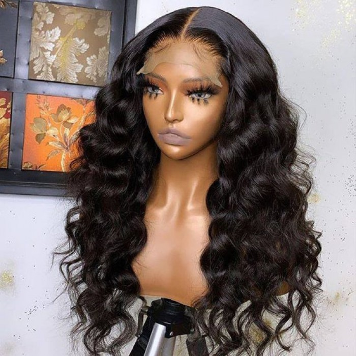 Affordable Real Scalp Silk Top Part Wig Loose Wave