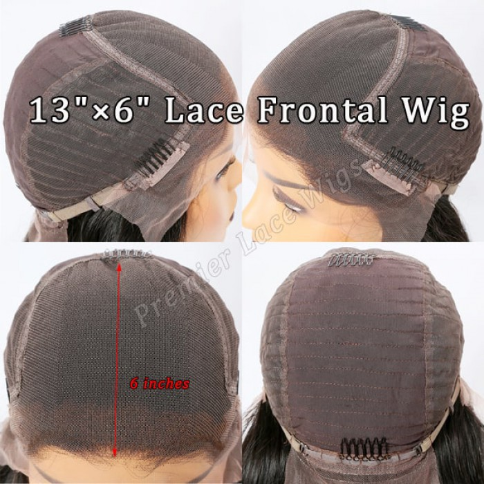 6 inches lace front wig