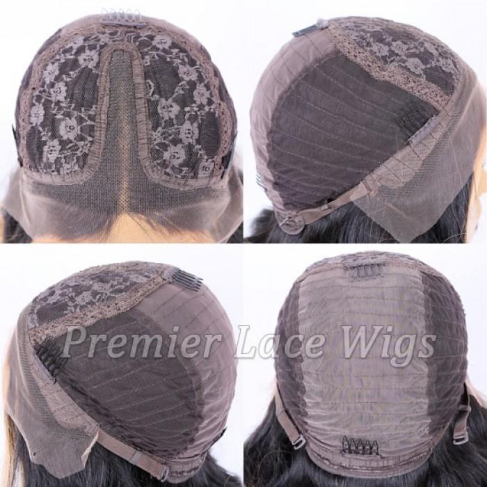 Middle Part T Lace Wig