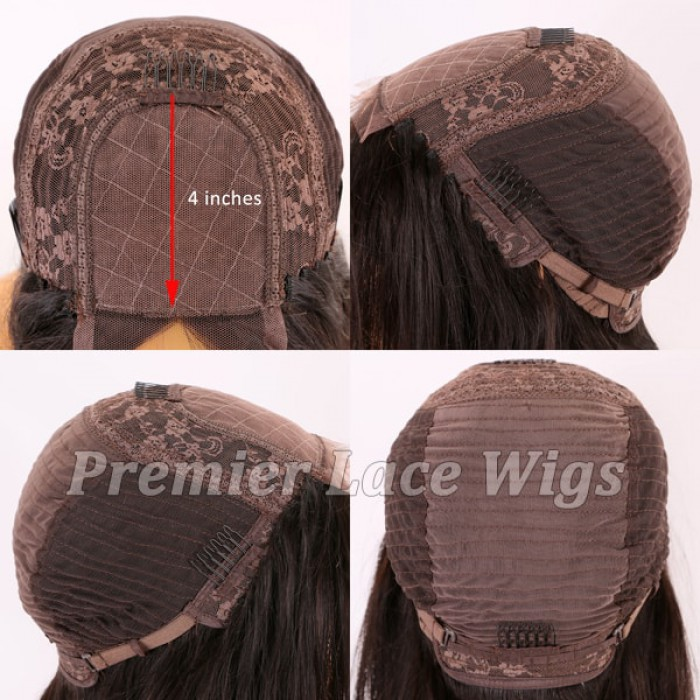 "3.5""x4"" silk base closure wig"