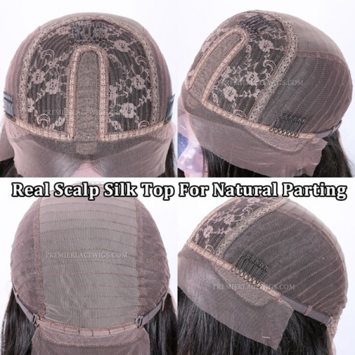 Real Scalp Silk Top For Natural Parting