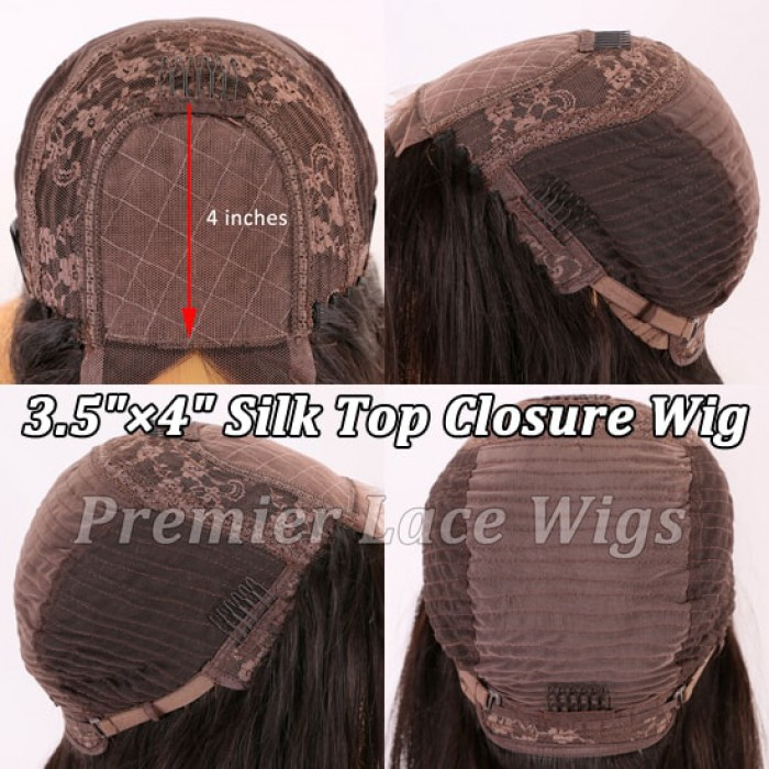 "3.5""x4"" Silk Top Closure Wig"