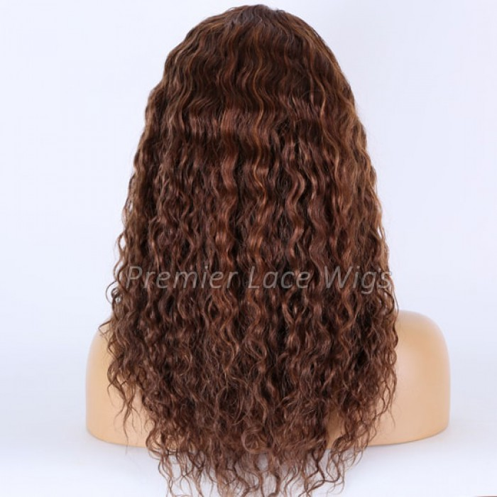 Highlights Brown Curly  18 inches