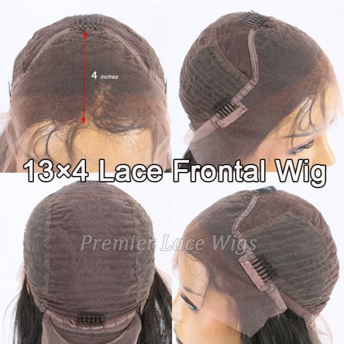 lace front wig 4 inches deep part