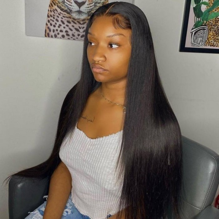 Affordable Middle Part Lace Wig Yaki Straight