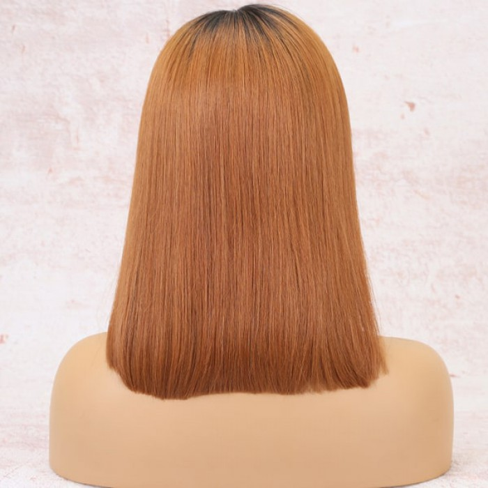 "Luxury Copper Hair Bob 4.5"" Lace Front Wig"