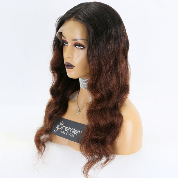 20 inches Chocolate Brown Ombre