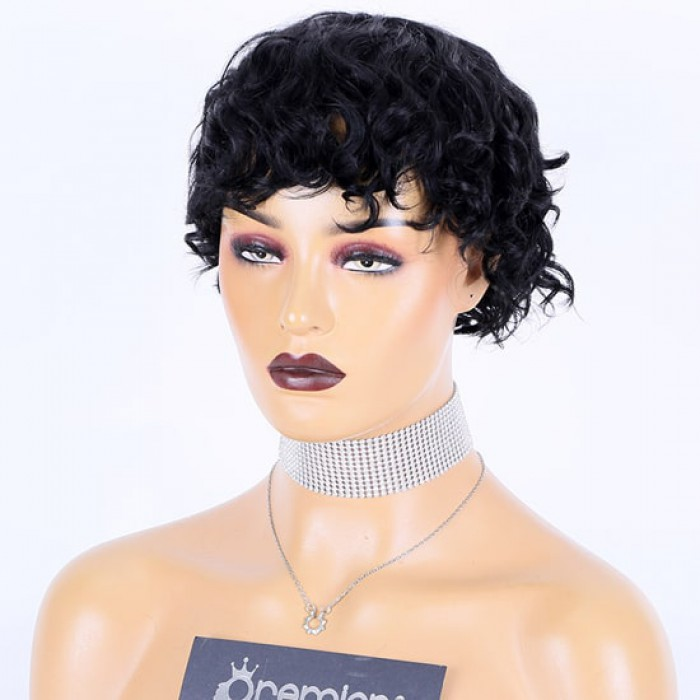 Pixie Cut Short Curly Style