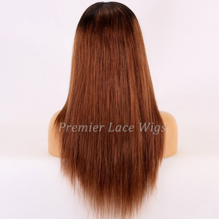18 inches Brown Hair With Dark Roots