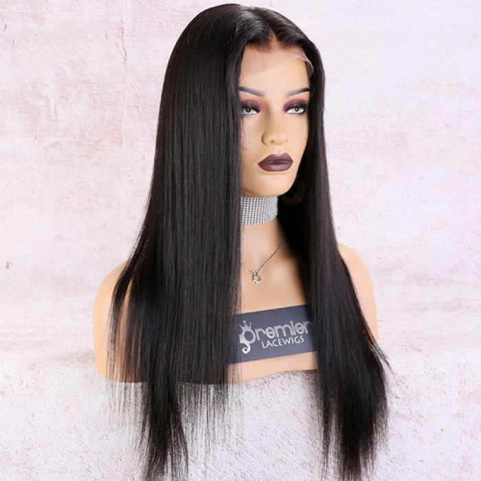 "Yaki Textured Straight 6"" Deep Part Lace Frontal Wig"
