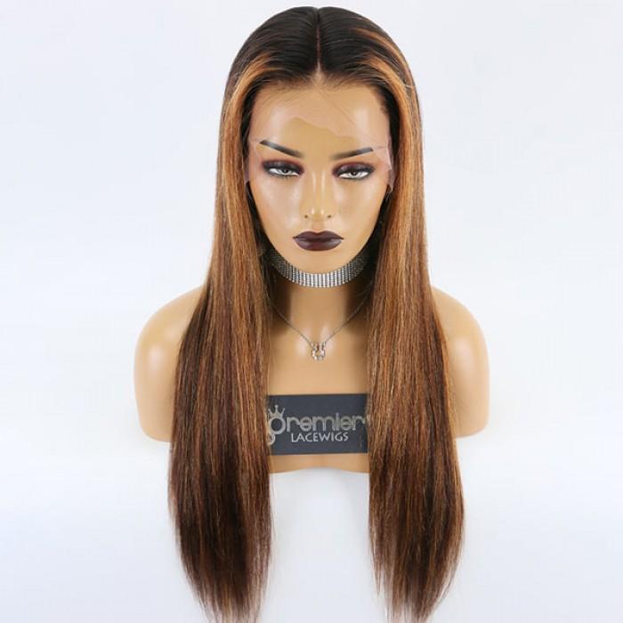 22 inches Highlight Hair Bone Straight