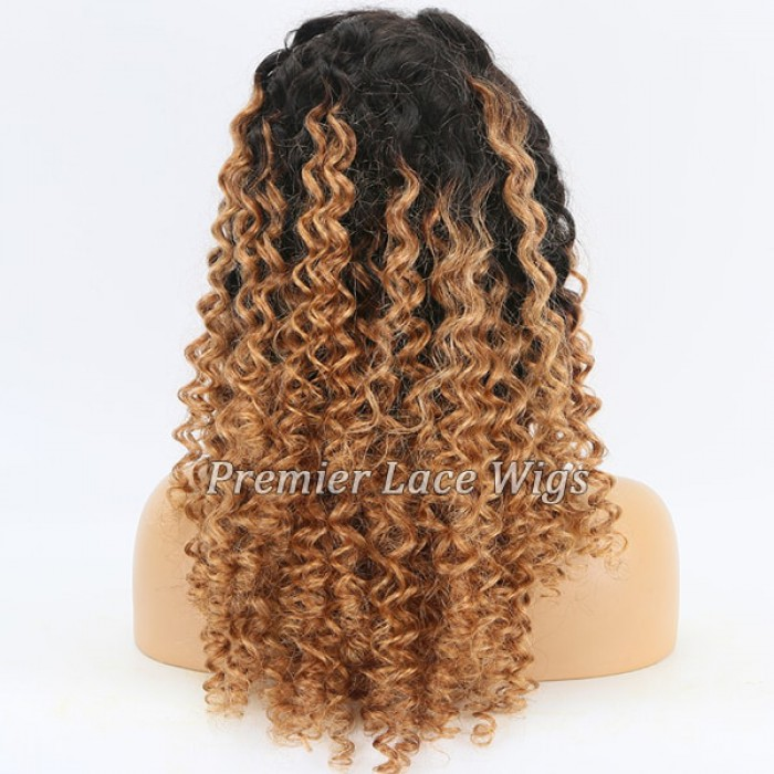 Blonde Ombre Curly Hair
