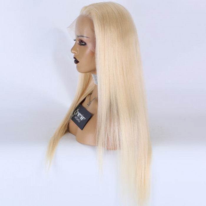 613# blonde hair , 22 inches , 150% thick density