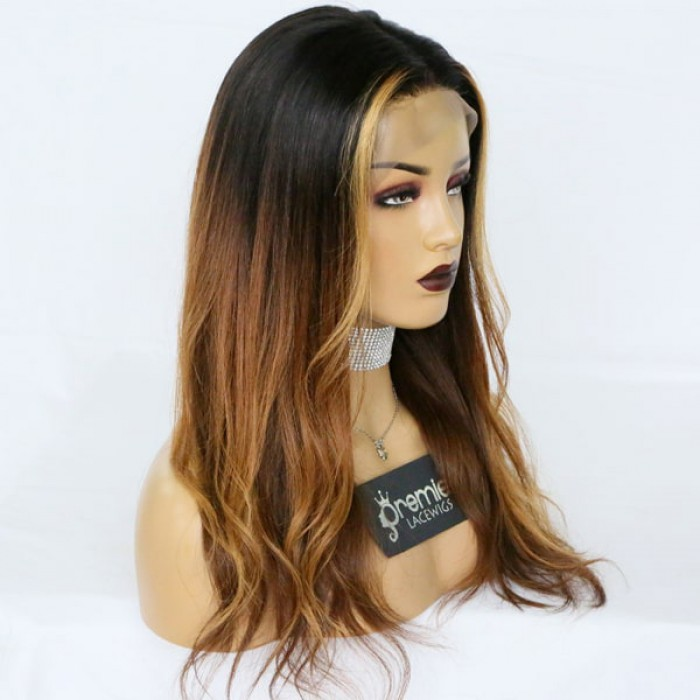 Ombre Style Virgin Hair Lace Wig