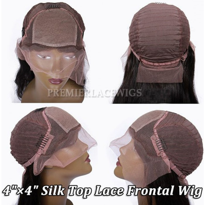 """4""""x4"""" Silk Top Lace Frontal Wig"""