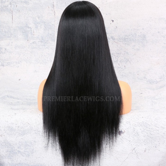 150% Density Affordable Lace Wig Yaki Straight