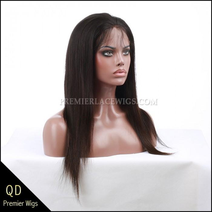 Malaysian Virgin Hair Full Lace Wigs Silky Straight