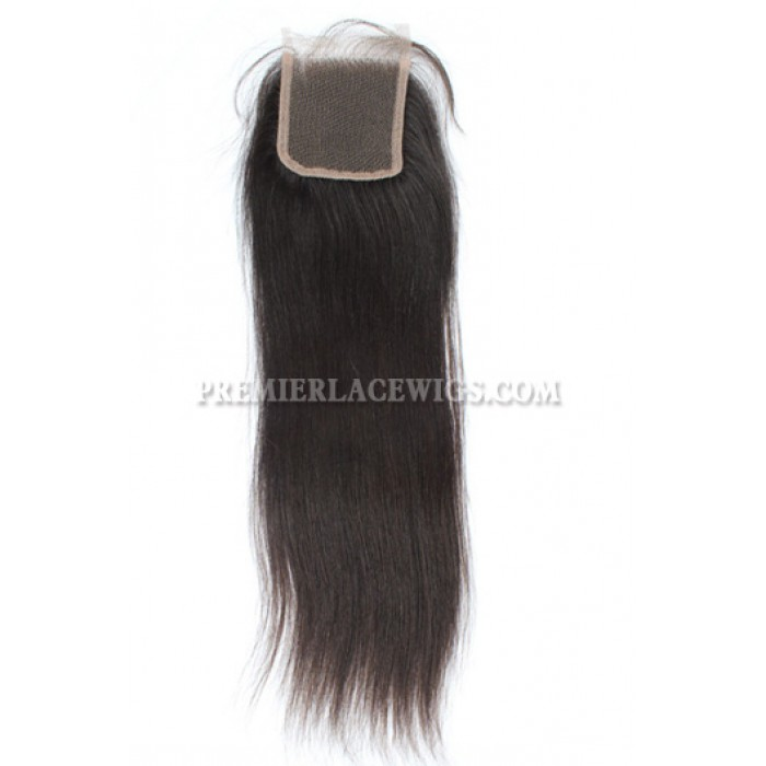 Peruvian Virgin Hair Silky Straight A Lace Closure