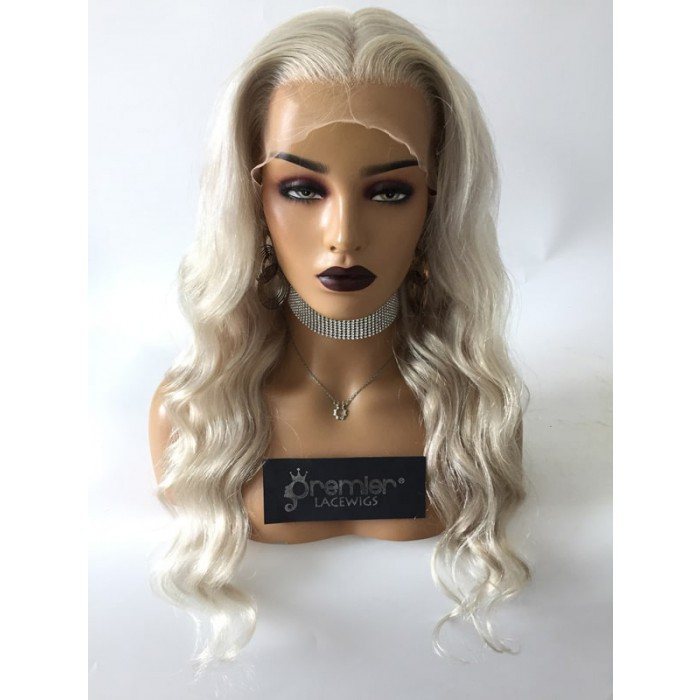 Ash Blonde 22 inches 150% thick density