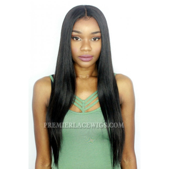20 inches , 180% density , medium size , silky straight lace front wig