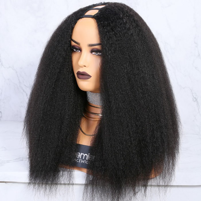Textured U-Part Wigs Kinky Straight
