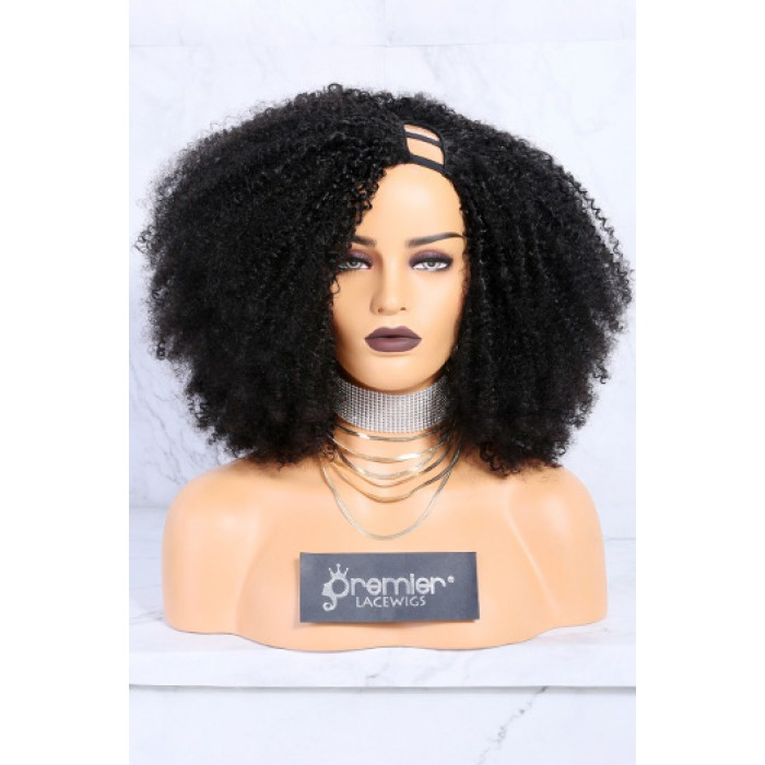 Textured U-Part Wigs Kinky Coily
