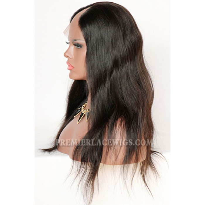 natural color ,18inches ,middle part
