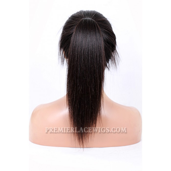 Stock Glueless Lace Front Wigs Chinese Virgin Hair Light Yaki
