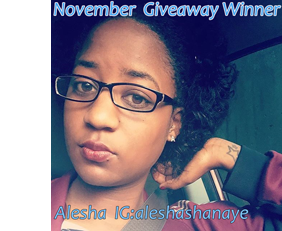 November Giveaway Winner
