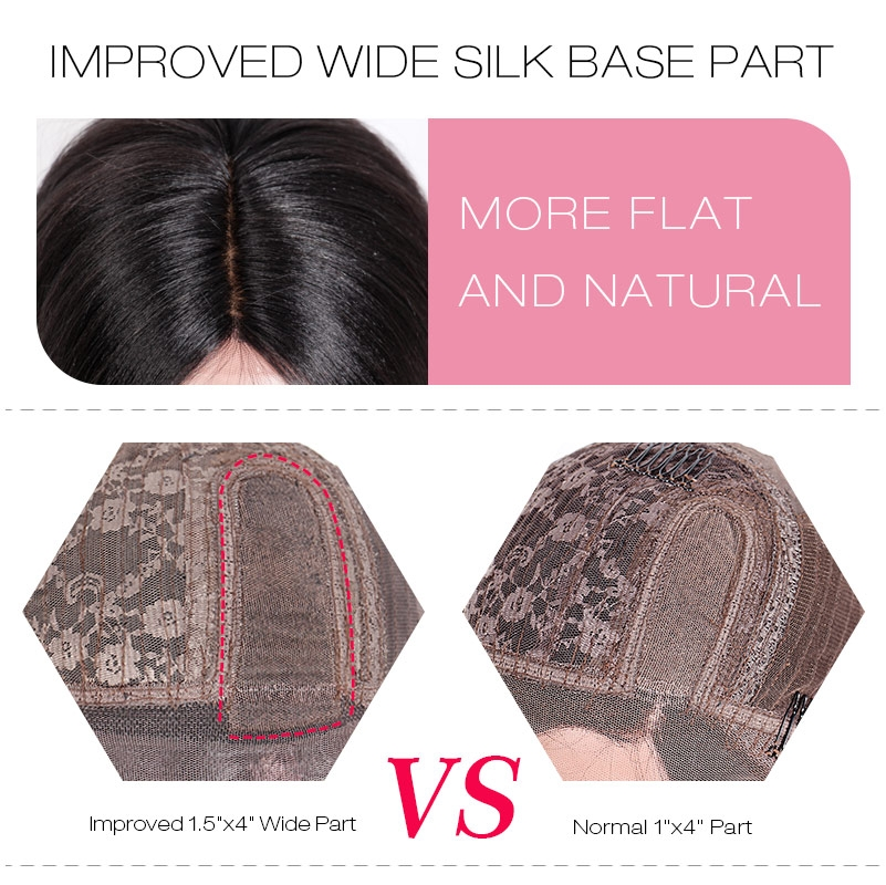 IMPROVED WIDE PART SILK BASE WIGS