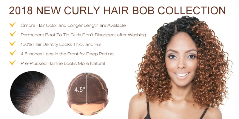 2018 New Summer Hair Curly Bob Collection