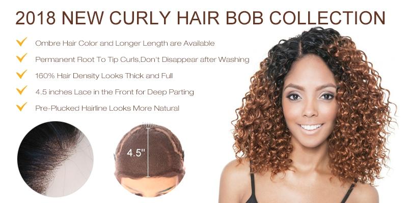 Ombre Curly Bob