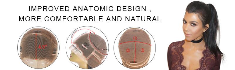Improved 360°Anatomic Lace Wigs