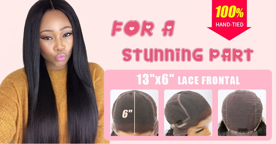6 inches lace parting space