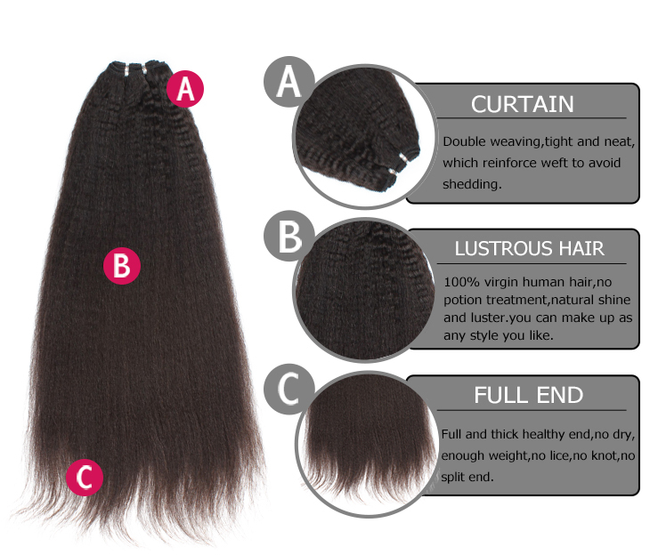 kinky brazilian hair bundles